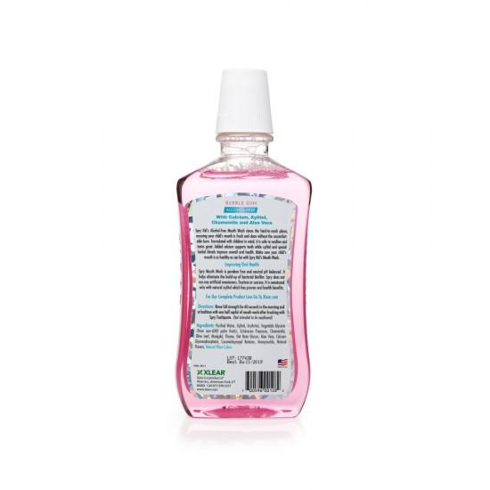 Apa de gura cu xylitol pentru copii, SPRY, fara alcool, ingrediente 100% naturale, aroma guma de mestecat (bubble gum), 473 ml