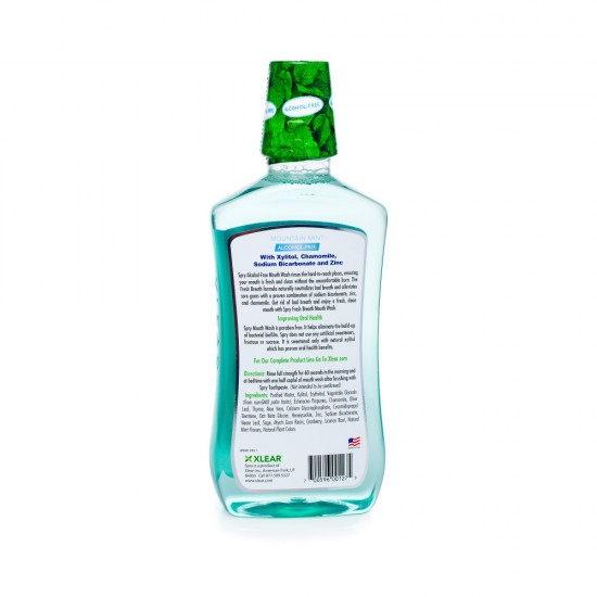 Alcohol-Free Natural Mountain Mint Mouthwash - Fresh Breath