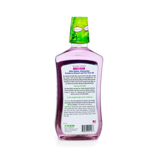 Alcohol-Free Natural Island Grape Mouthwash - Anti-Plaque