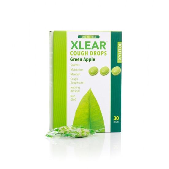 Dropsuri Xlear impotriva tusei - mere verzi, cutie cu 30 buc.