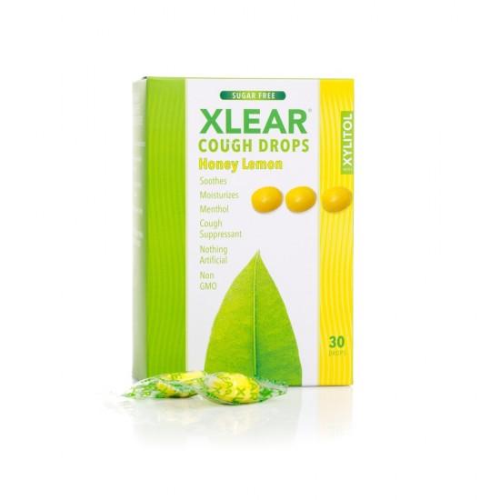 Dropsuri Xlear impotriva tusei - miere si lamaie, cutie cu 30 buc.