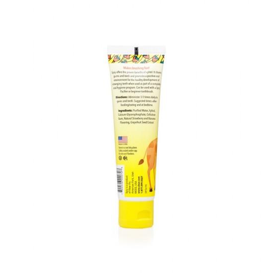 Gel SPRY gingii/dinti copii, aroma de capsuni si banane, 60 ml.