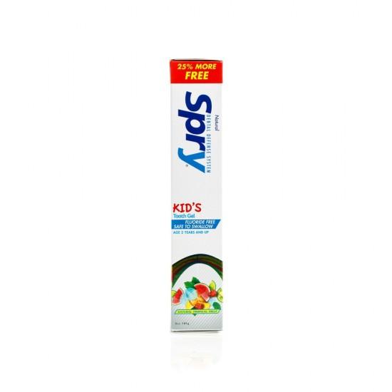 Gel pentru ingrijirea danturii la copii, SPRY, cu xylitol, aroma fructe tropicale, fara fluor, 141 g