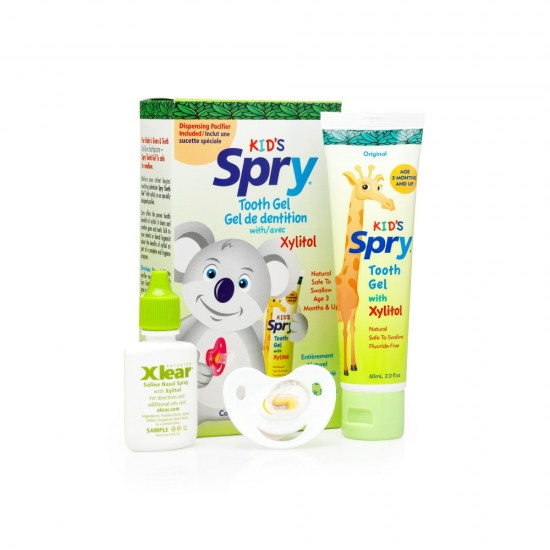 Dispensing Pacifier and Xylitol Tooth Gel Kit