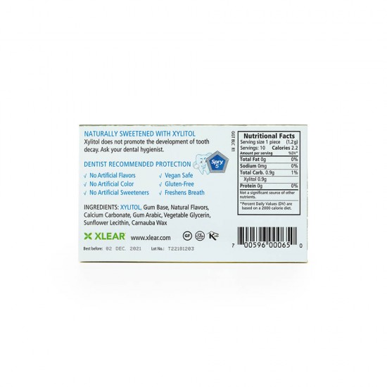Natural Green Tea Xylitol Gum - 10ct Cards (20 Pack)