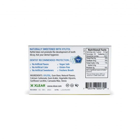Natural Licorice Xylitol Gum, 10ct Blister Cards (20 Pack)