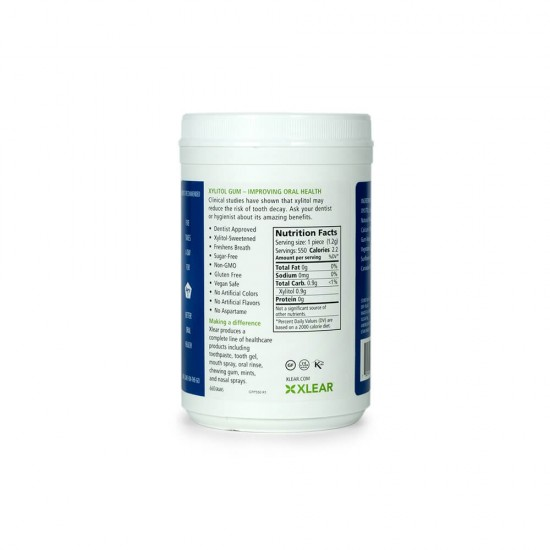 Natural Peppermint Xylitol Gum - 550ct