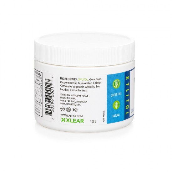 Natural Peppermint Xylitol Gum - 100ct