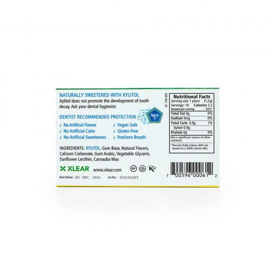 Natural Peppermint Xylitol Gum - 10ct Cards (1 Pack)