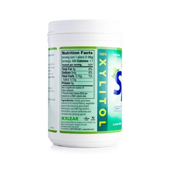 Guma de mestecat Spry, borcan cu 550 tablete, menta creata (spearmint)