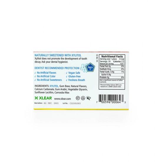 Set 20 folii x 10 gume de mestecat cu xylitol, SPRY, fara zahar, 100% ingrediente naturale, aroma scortisoara (cinnamon)