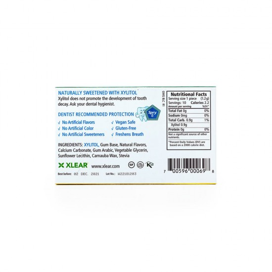 Natural Wintergreen Xylitol Gum - 10ct Cards (1 Pack)