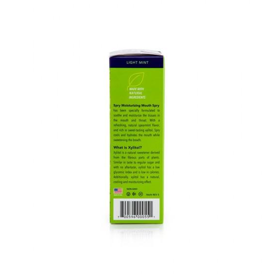 Spray de gura, SPRY, cu xylitol, ingrediente naturale, aroma menta creata spearmint, cutie cu 2 recipiente, 134 ml
