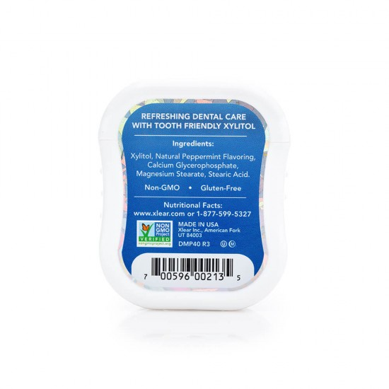 Natural Peppermint Xylitol Gems - 40ct