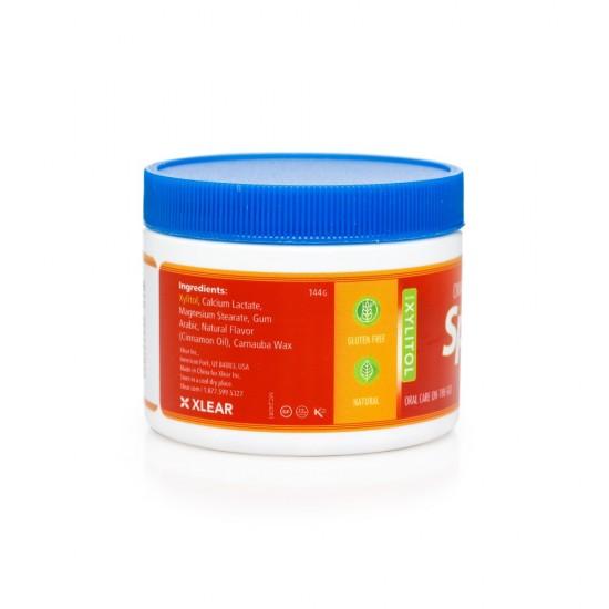 Drajeuri cu xylitol, SPRY, fara zahar, ingrediente naturale, aroma scortisoara (cinnamon), borcan cu 240 bucati