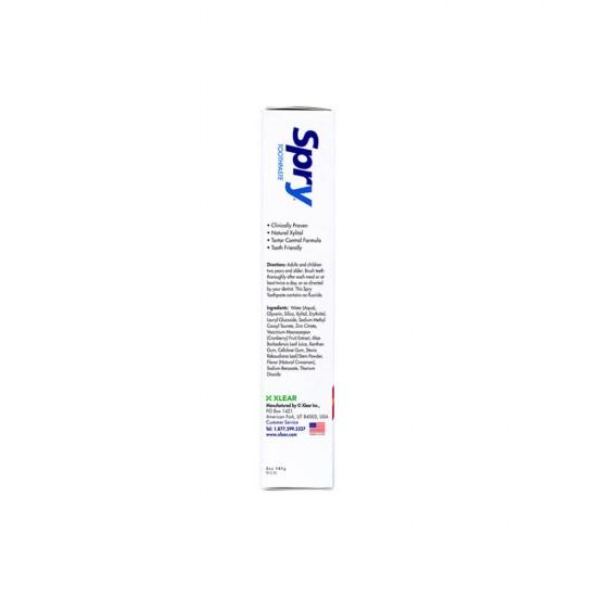 Pasta de dinti cu xylitol, SPRY, aroma naturala de scortisoara (cinnamon), fara fluor, 141 g