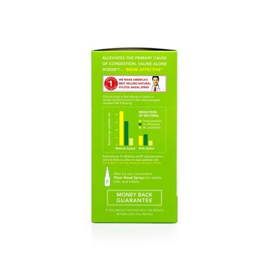 Kit complet pentru irigarea si curatarea cailor nazale Neti Rinse, ingrediente 100% naturale, XLEAR