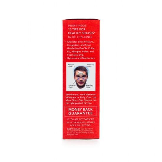 MAX Homeopathic Saline Nasal Spray with Capsicum - 1.5fl oz Measured Pump