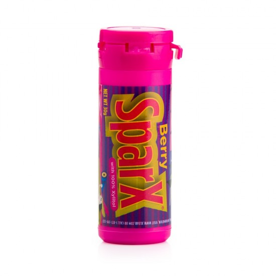 SparX, bomboane cu fructe de padure si xylitol, tub 30g.